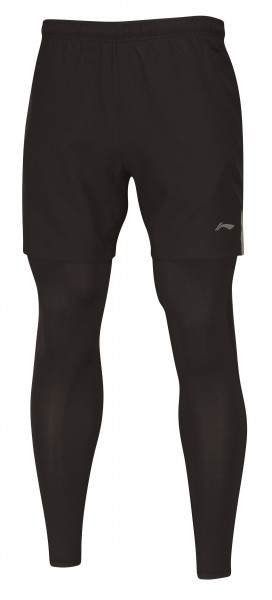 Li-Ning Leg Warmer Short inkl. Tight Men Black - AAPM123-1