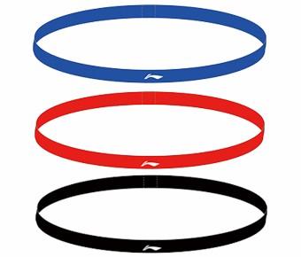 Haarband 3-er Set in Rot, Blau, Schwarz - AQAP112-1