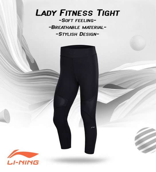Damen Fitness Tights Black - AUQN028-3