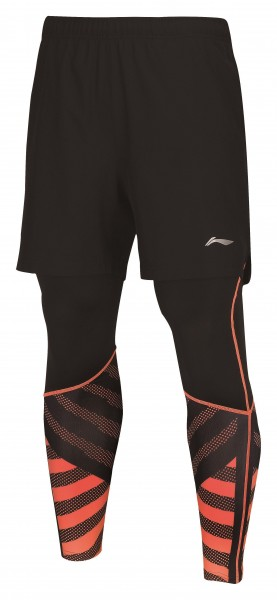 Li Ning Leg Warmer Shorts inklusive Tight Orange - AAPN151-1