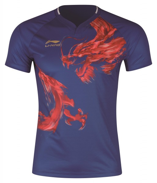 "Tischtennis China Nat. Mannschaft Shirt ""Dragon"" Fan-Edition blau - AAYP085-1"