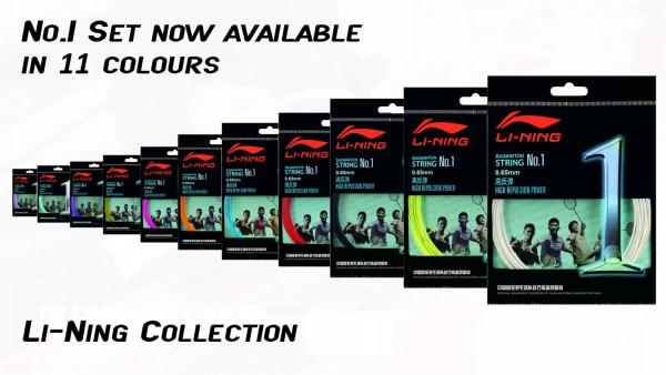 Badmintonsaite No.1 im 10m-Set verschiedene Farben - AXJJ018