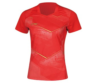 Li-Ning Damen Tischtennis Trikot China Nat. Team rot - AAYN086-3
