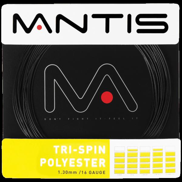 """Mantis Tennis Saite """"Tri Spin Polyester"""" 16G 12 m schwarz - MATSS031"""