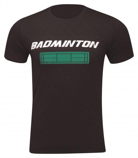 Badminton Culture Shirt Court schwarz UNISEX - AHSP697-1