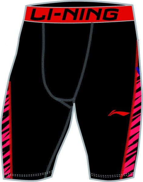 "Unterziehhose Tight Unterhose ""Tournament Shorts"" rot - AUSL019-2"