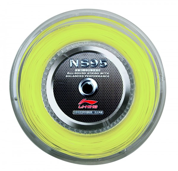 Badmintonsaite NS 95 Gelb 200M Rolle - AXJF032-2