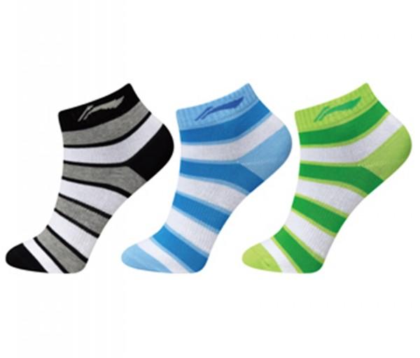 AWTM006-1 Socks 3pac Kids Black/Blue/Green